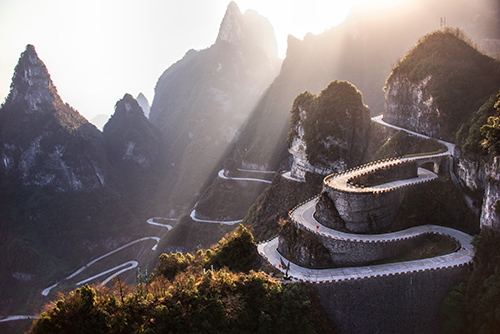 Best Driving Roads in the World - Tianmen Mountain, China